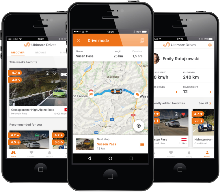 Ultimate Drives Greatest Driving Roads DB and App