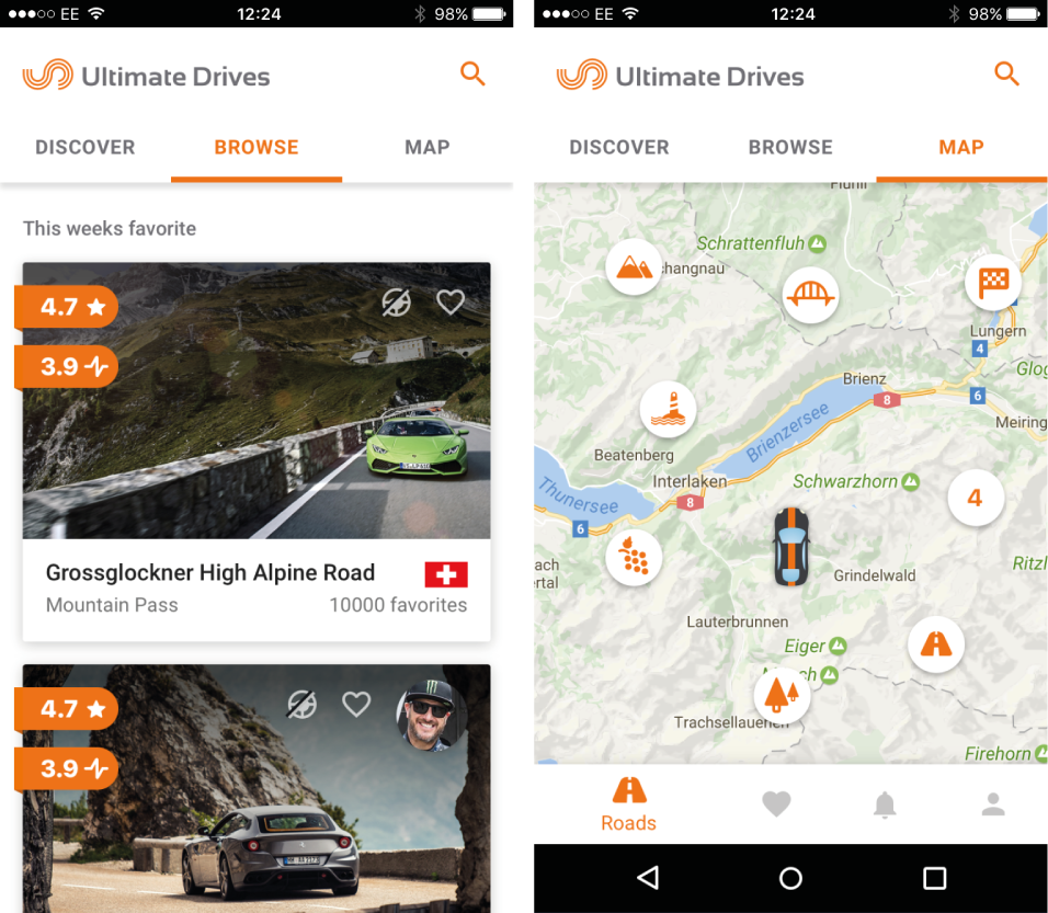 Locate Roads with the Ultimate Drives App