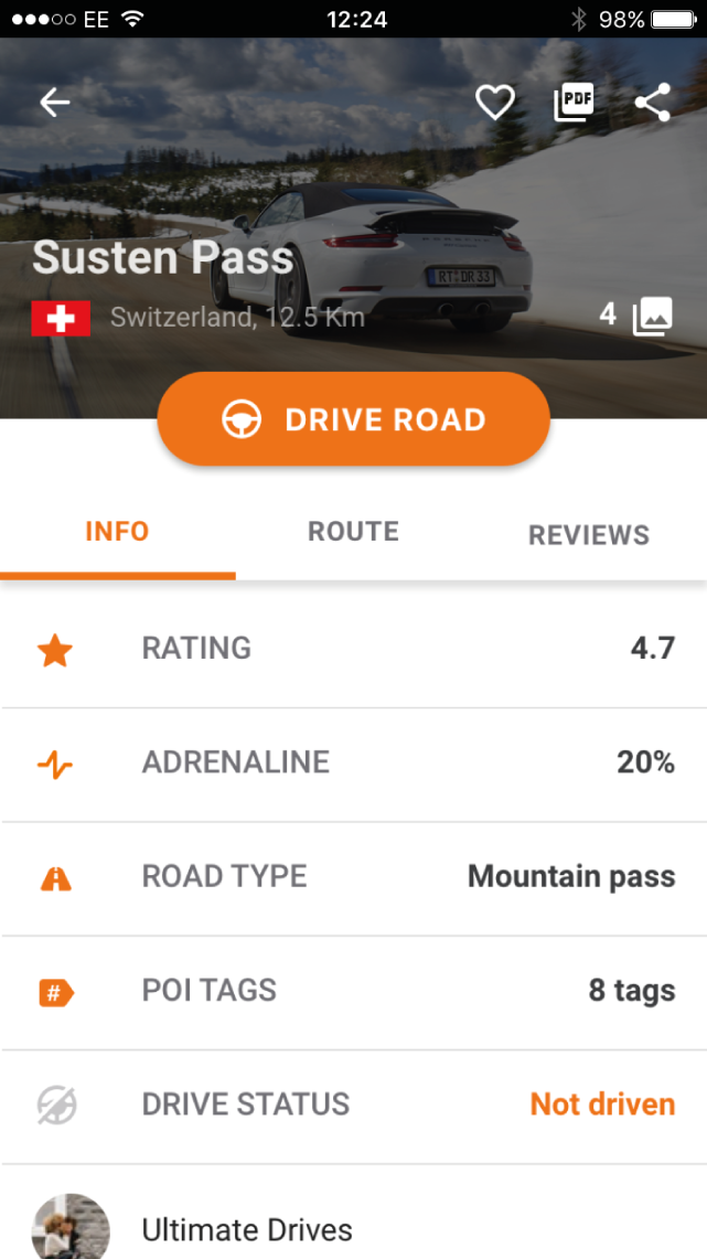 Review the details of each road