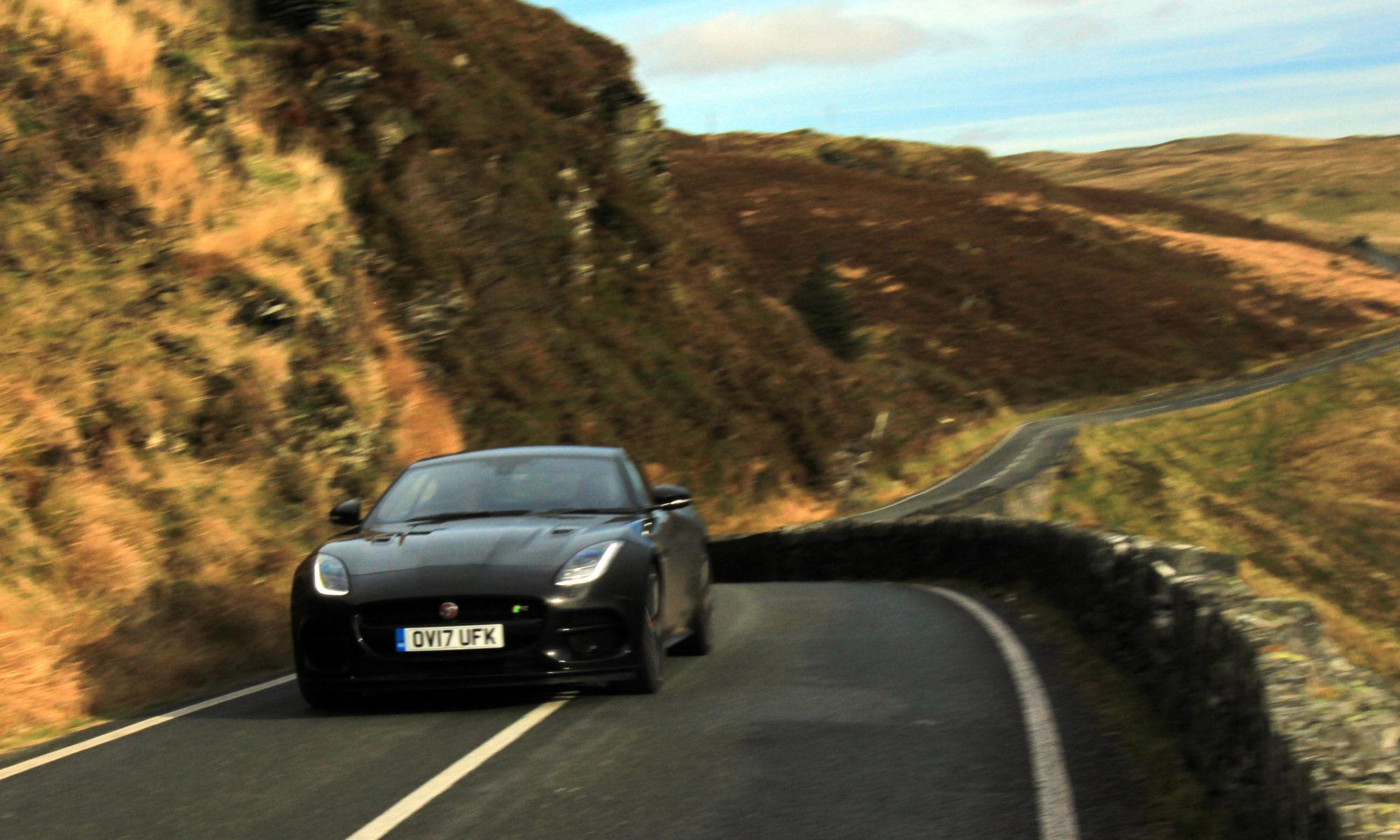 Jaguar F Type R V8 in Snowdonia
