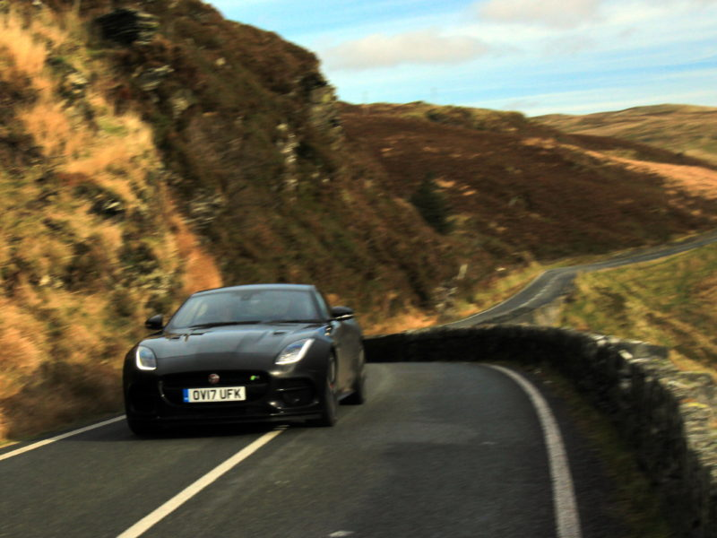 Jaguar F Type R V8 in Snowdonia